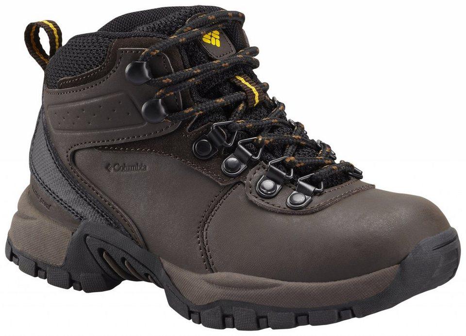 Columbia Kletterschuh »Newton Ridge Waterproof Shoes Youth« in braun
