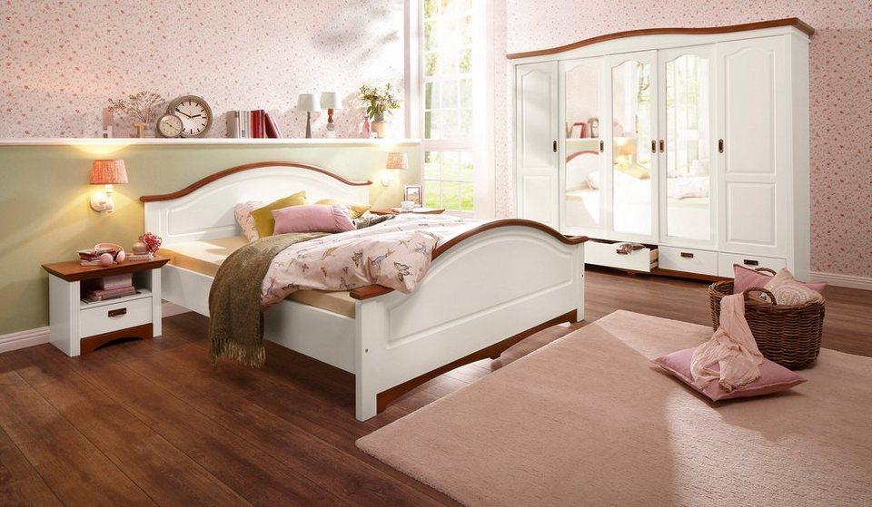 Home affaire Schlafzimmer-Set »Konrad«, mit 5-trg. Kleiderschrank, Bett  180/200 cm und 2 Nachttischen online kaufen | OTTO