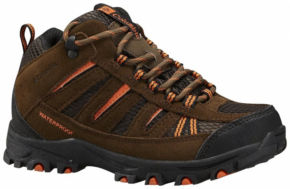 Columbia Halbschuhe »Pisgah Peak Mid Waterproof Shoes Boy« in braun