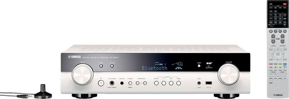 RX-S601 DAB 5.1 AV-Receiver (3D, Spotify Connect, Airplay, WLAN, Bluetooth) in weiß