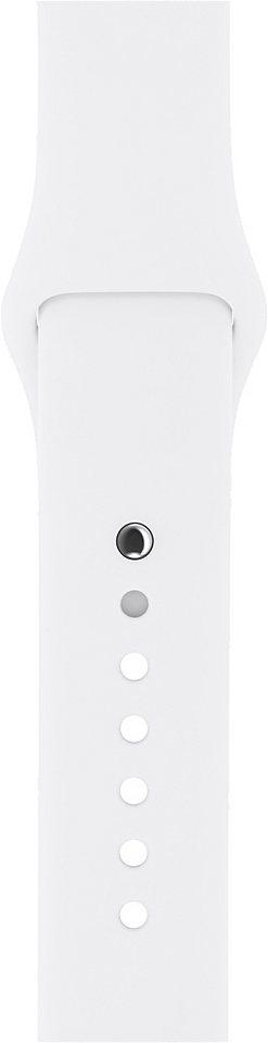 Apple 38mm Sportarmband in weiß