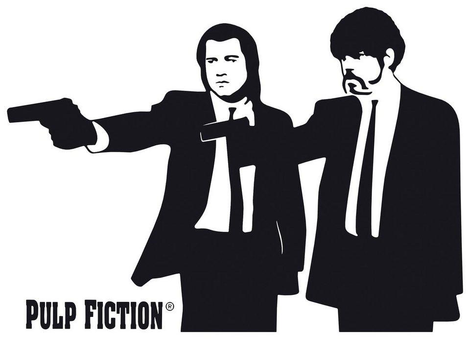 Home affaire Wandtattoo » Pulp Fiction - Silhouette Jules & Vince«, 100/71 cm in schwarz