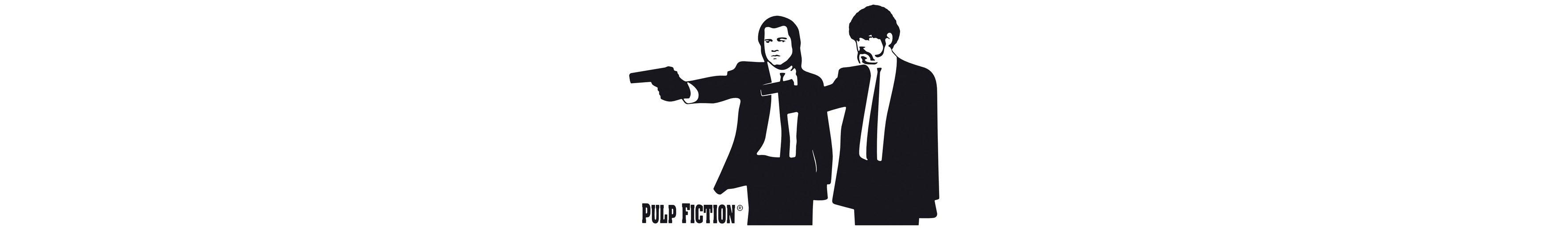 Home affaire Wandtattoo » Pulp Fiction - Silhouette Jules & Vince«, 100/71 cm