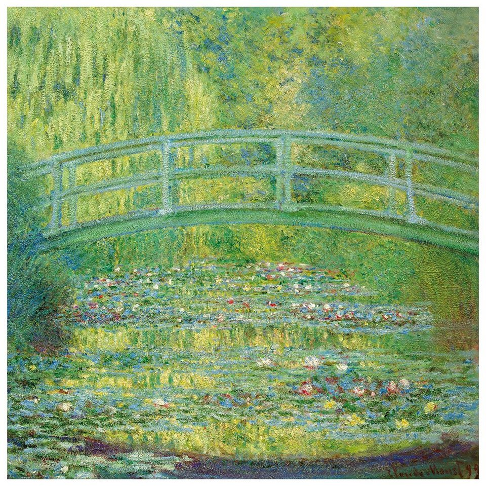 Home affaire Fototapete »Monet - Seerosenteich«, 250/250 cm in grün