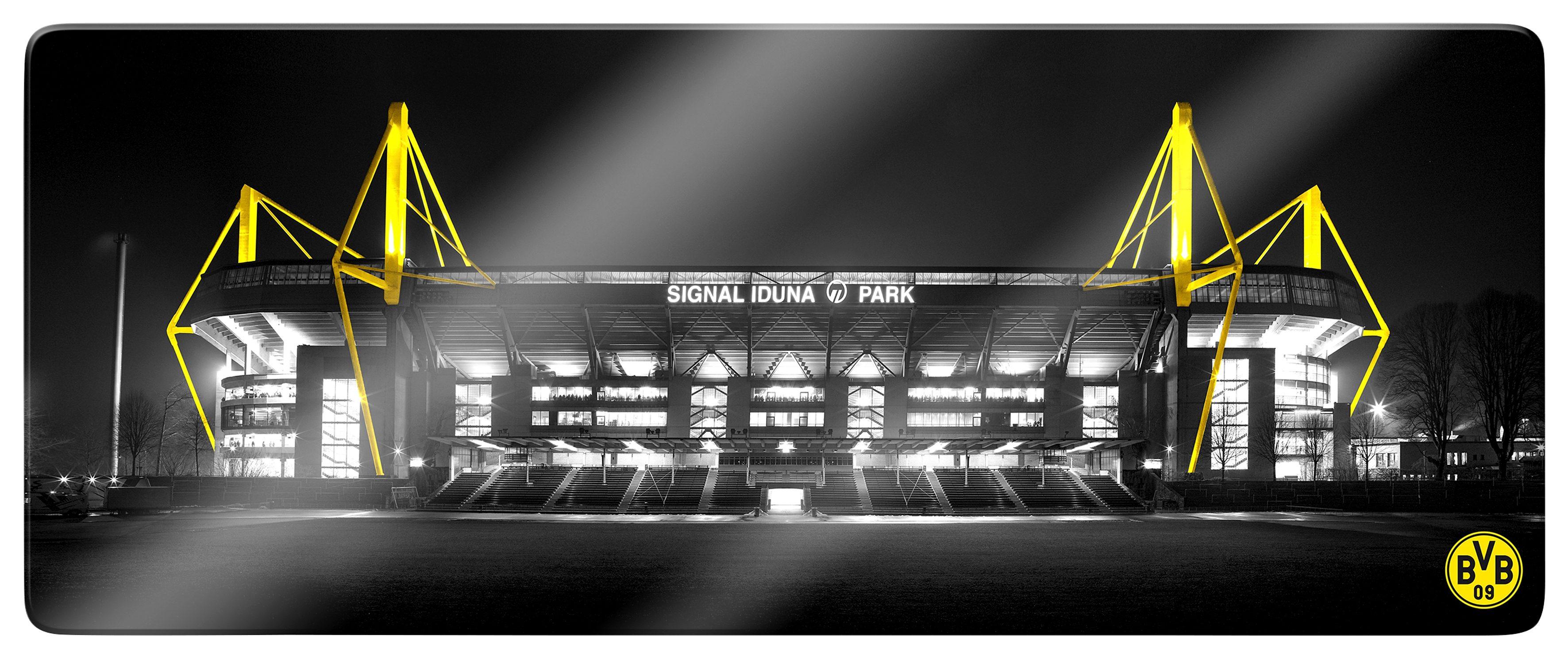 Glasbild »BVB Signal Iduna Park«, Fußball, 100/40 cm