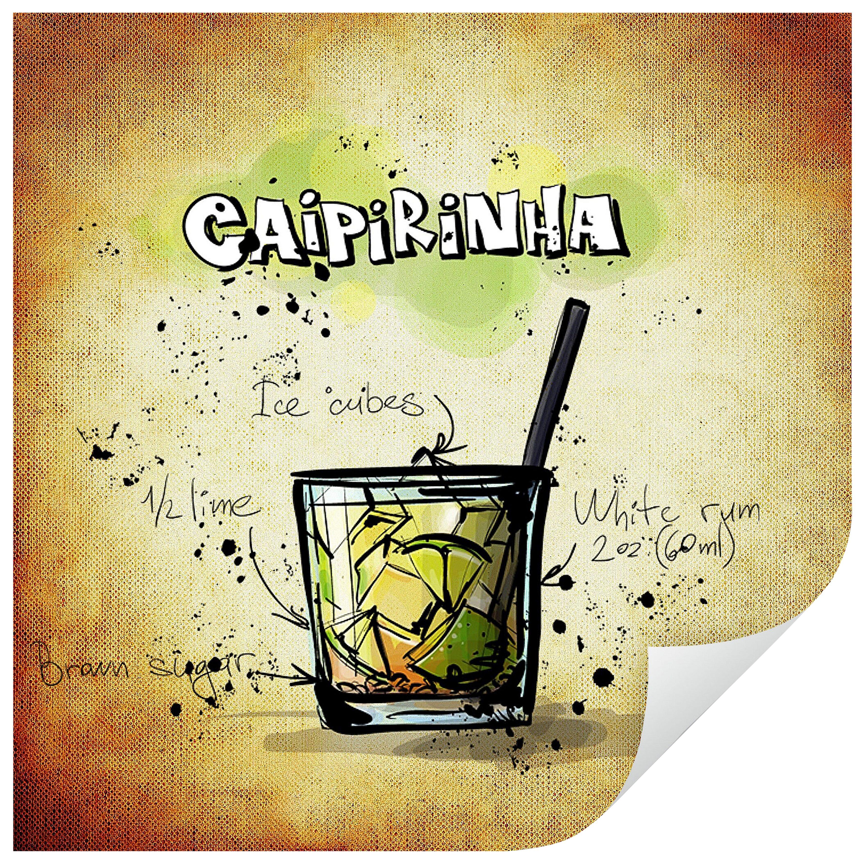 Home affaire Wandtattoo »Caipirinha - Rezept«, 50/50 cm