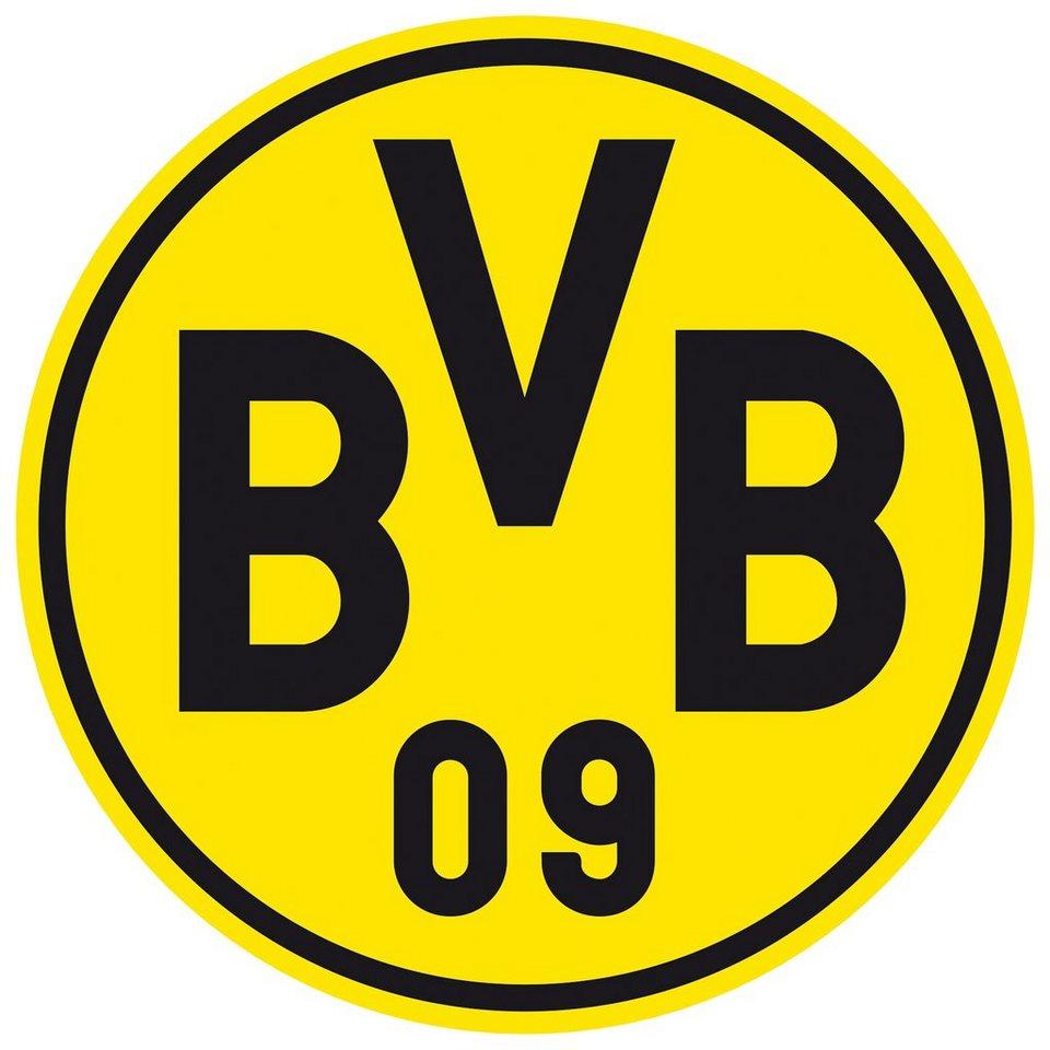 Home affaire Wandtattoo »Borussia Dortmund Logo«, 40/40 cm in gelb/schwarz