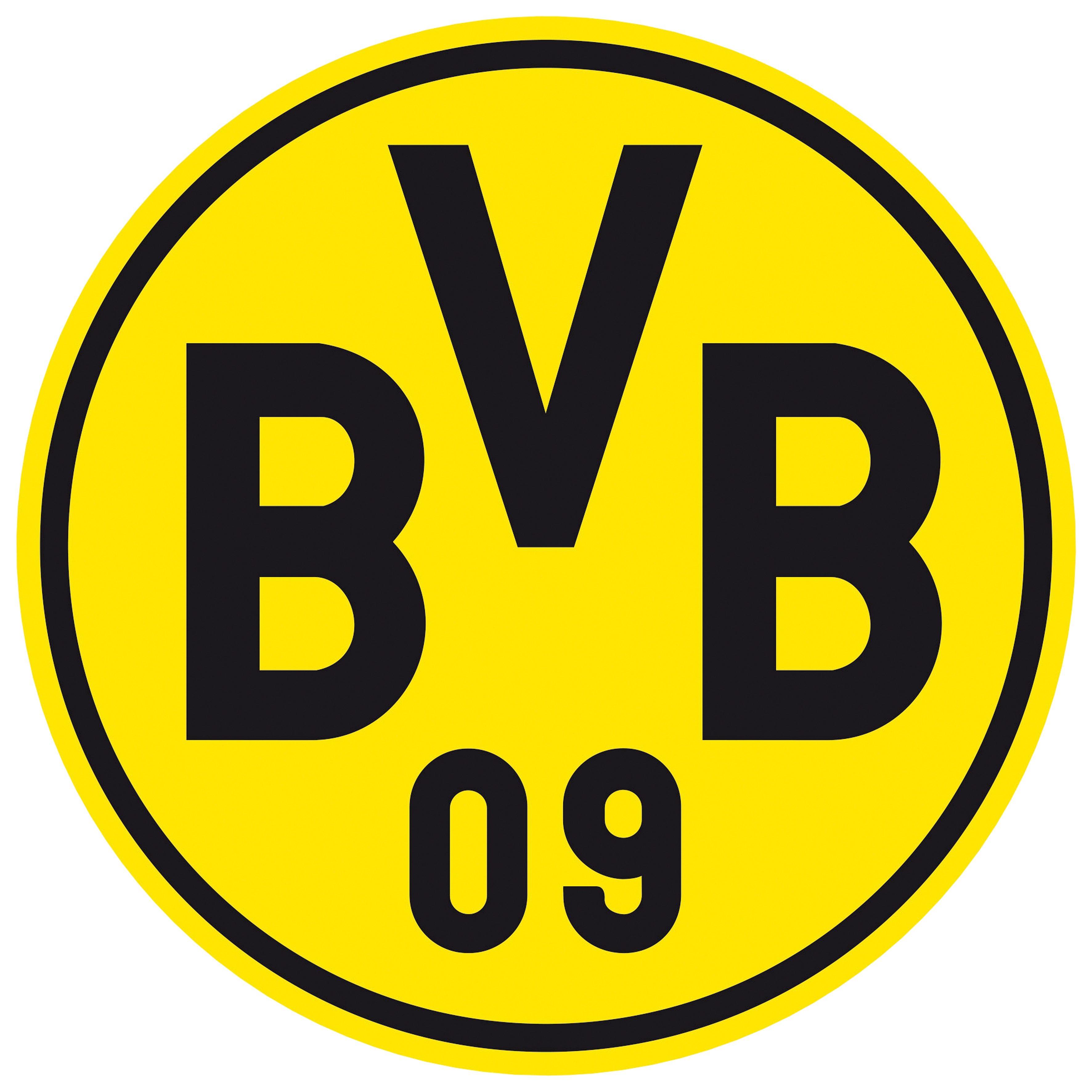 Wandtattoo »Borussia Dortmund Logo«, 40/40 cm