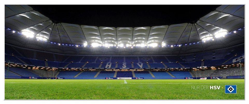 Home affaire Wandbild »HSV Arena Nacht - Panorama«, 100/40 cm in mehrfarbig
