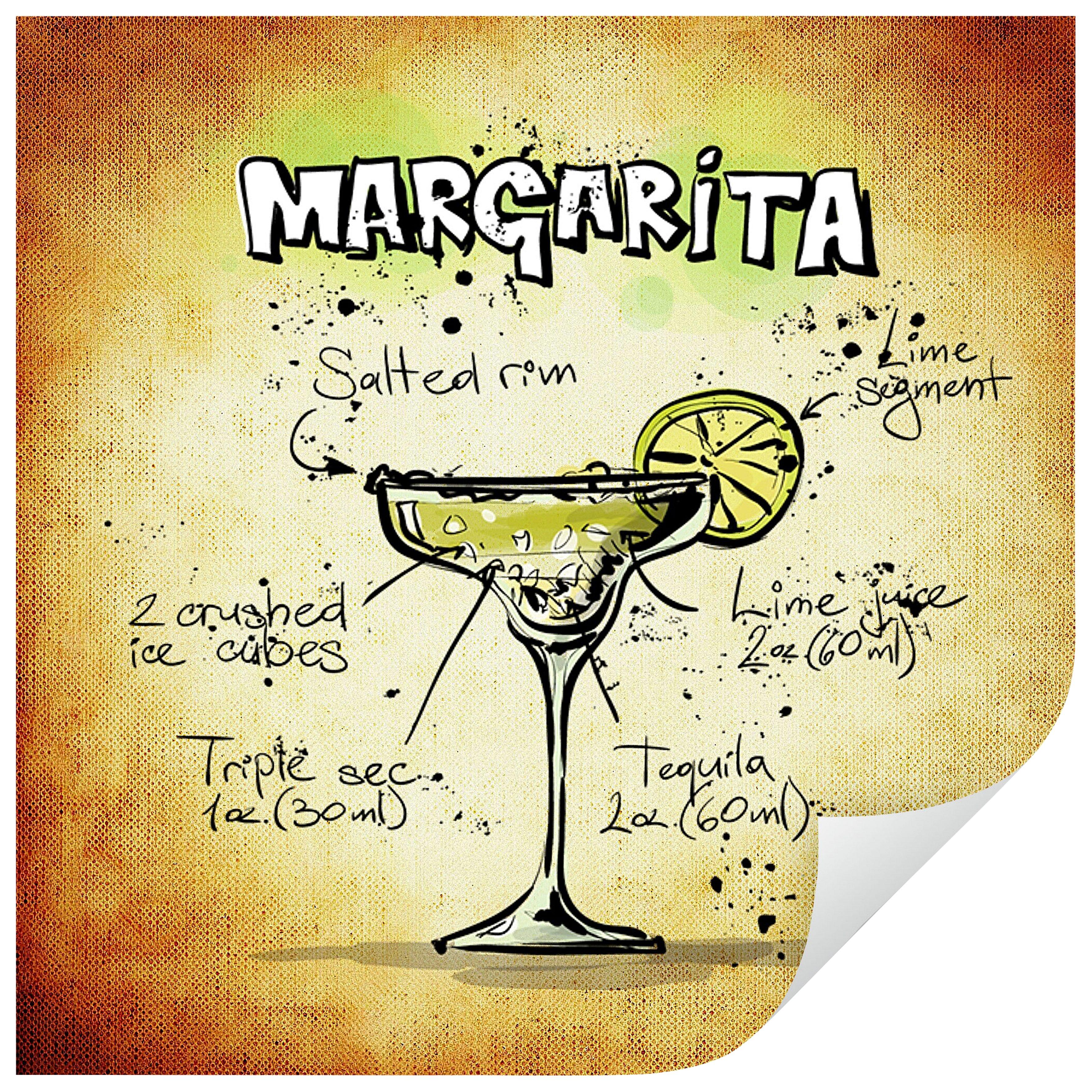 Home affaire Wandtattoo »Margarita - Rezept«, 50/50 cm