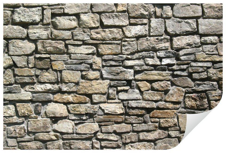 Home affaire Wandtattoo »Natursteinmauer«, 90/60 cm in mehrfarbig
