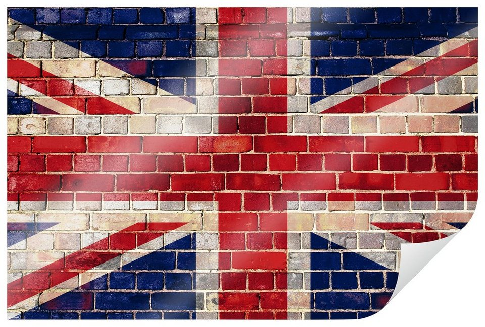 Home affaire Poster »Union Jack Mauer«, 90/60 cm in rot/blau