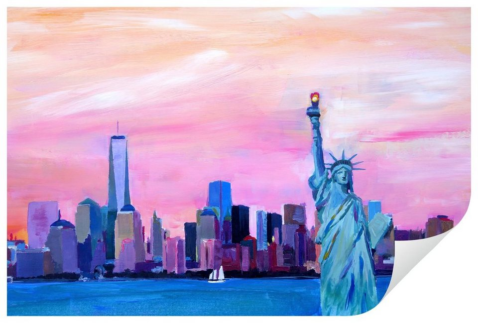 Home affaire Wandtattoo »Bleichner - Manhattan«, 80/50 cm in mehrfarbig