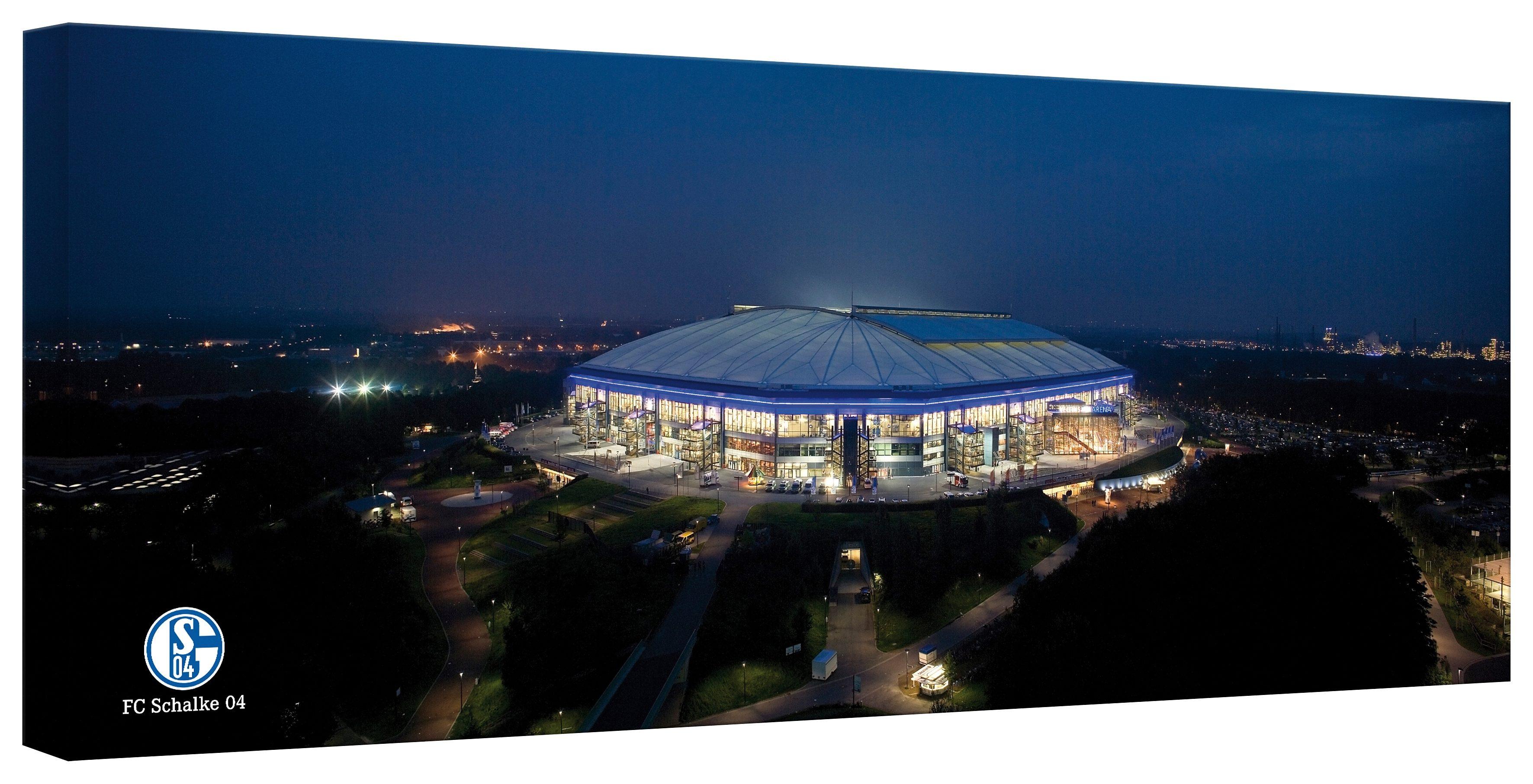 Home affaire Leinwandbild »Schalke Arena - Panorama«, 120/50 cm