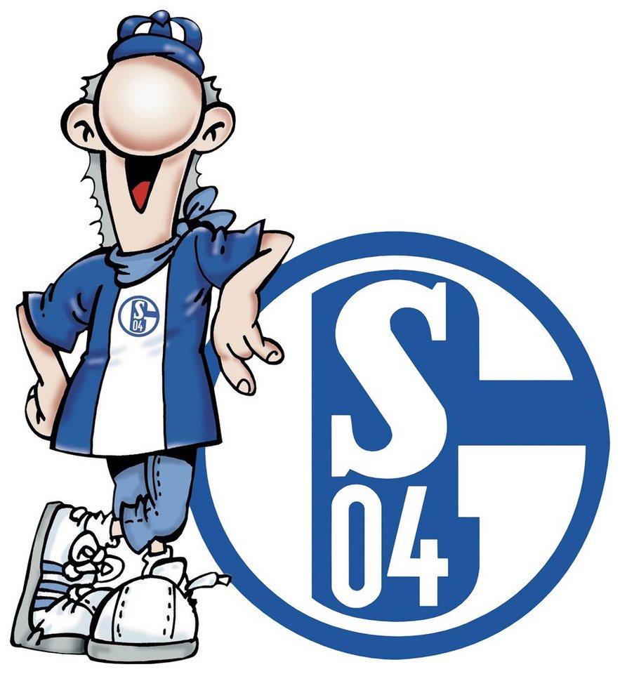 Home affaire Wandtattoo »Schalke 04 Erwin«, 50/55 cm in blau/weiß