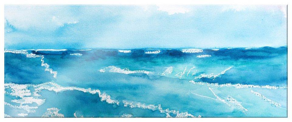 Home affaire Acrylglasbild »Toetzke - Meeresrausch«, 80/30 cm in blau