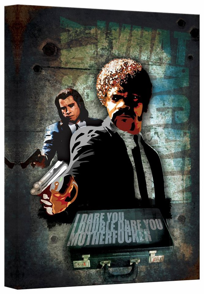 Home affaire Leinwandbild »Pulp Fiction - Jules & Vince«, 40/60 cm in mehrfarbig