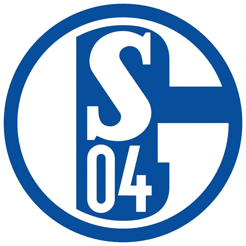 Home affaire Wandtattoo »Schalke 04 Logo«, 40/40 cm in blau/weiß