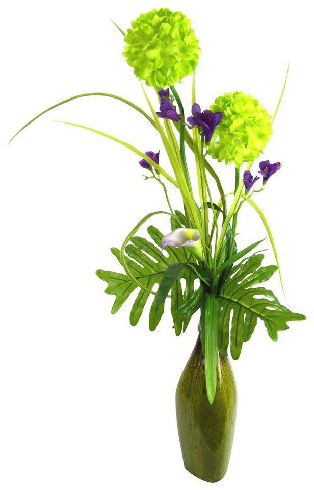 Home affaire Kunstblume »Allium Calla und Beiwerk« in grün