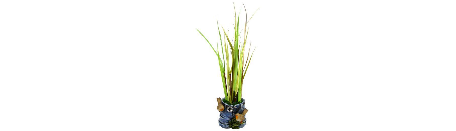 Home affaire Kunstblume »Gras in Hosen Übertopf«