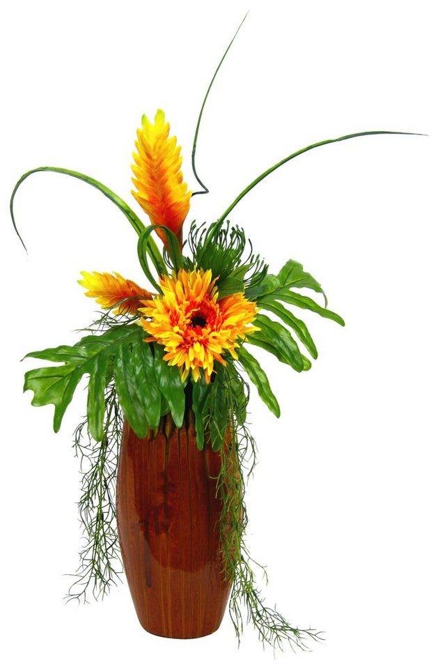Home affaire Kunstblume »Heliconia/Gerbera« in orange