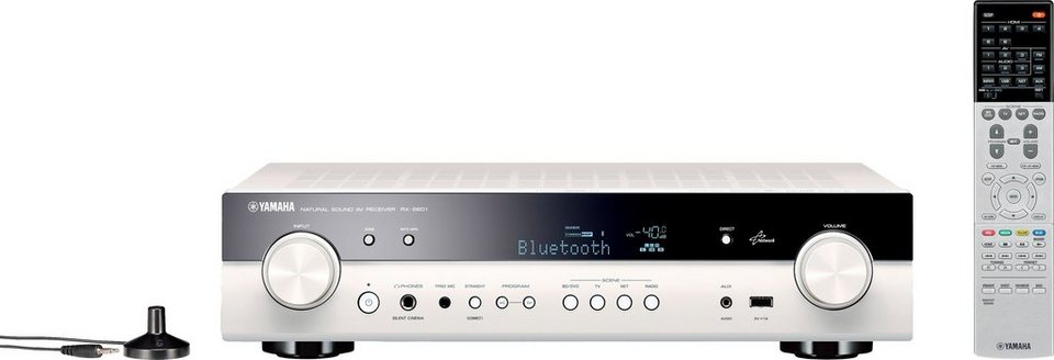 Yamaha RX-S601 5.1 AV-Receiver (3D, Spotify Connect, Airplay, WLAN, Bluetooth) in weiß