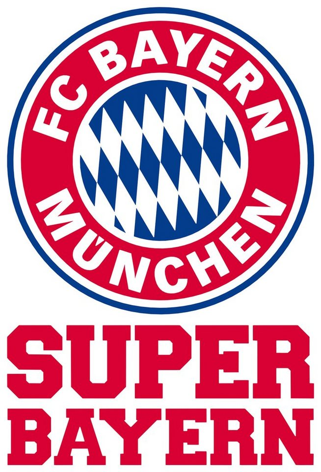 Home affaire Wandtattoo »Super Bayern«, 40/60 cm in rot