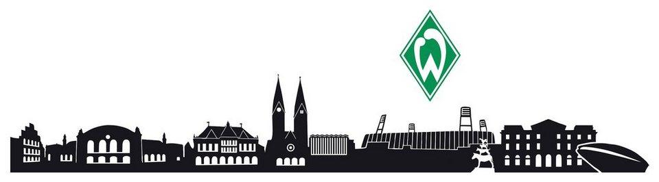 Home affaire Wandtattoo »Werder Bremen Skyline«, 160/25 cm in schwarz