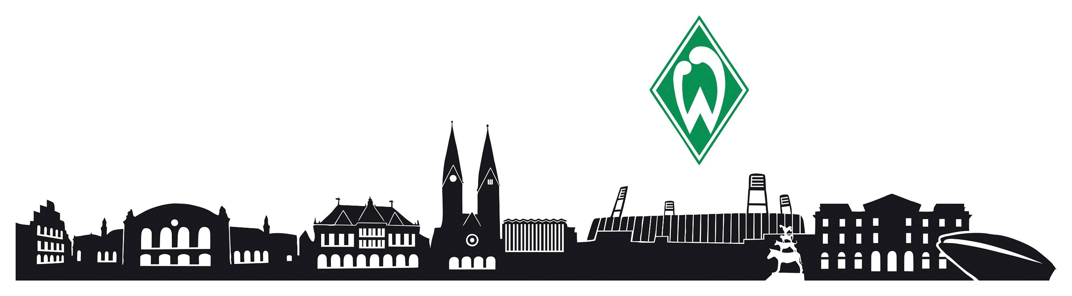 Home affaire Wandtattoo »Werder Bremen Skyline«, 160/25 cm