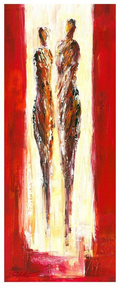 Home affaire Fototapete »Schüßler - Paar in Rot«, 100/250 cm in mehrfarbig