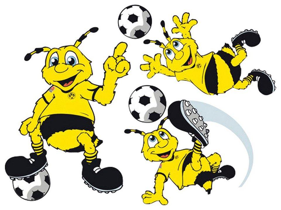 Home affaire Wandtattoo »Borussia Dortmund Emma«, 60/44 cm in gelb/schwarz