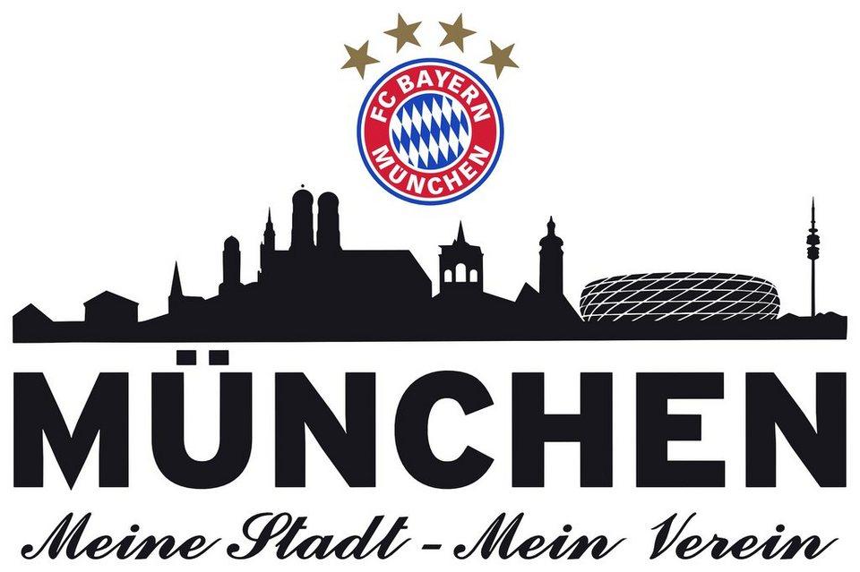 Home affaire Wandtattoo »FC Bayern Skyline«, 60/27 cm in schwarz