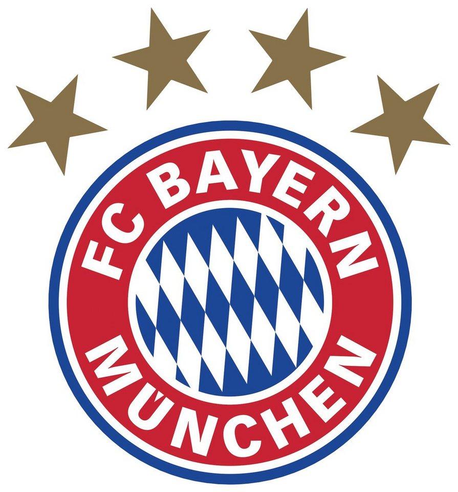 Home affaire Wandtattoo »FC Bayern München Logo«, 30/32 cm in mehrfarbig
