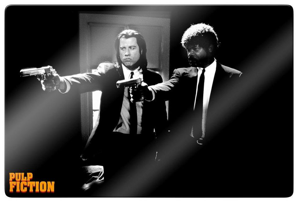 Home affaire Glasbild »Pulp Fiction - Jules & Vince 02«, 100/70 cm in schwarz/weiß