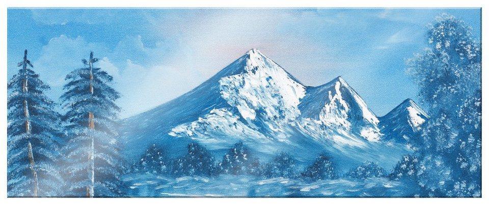 Home affaire Acrylglasbild »Toetzke - Alpsee Bergen«, 80/30 cm in blau