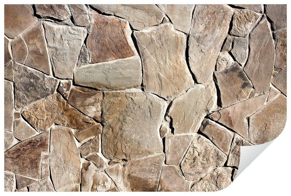 Home affaire Wandtattoo »Mediterrane Mauer«, 120/80 cm in braun