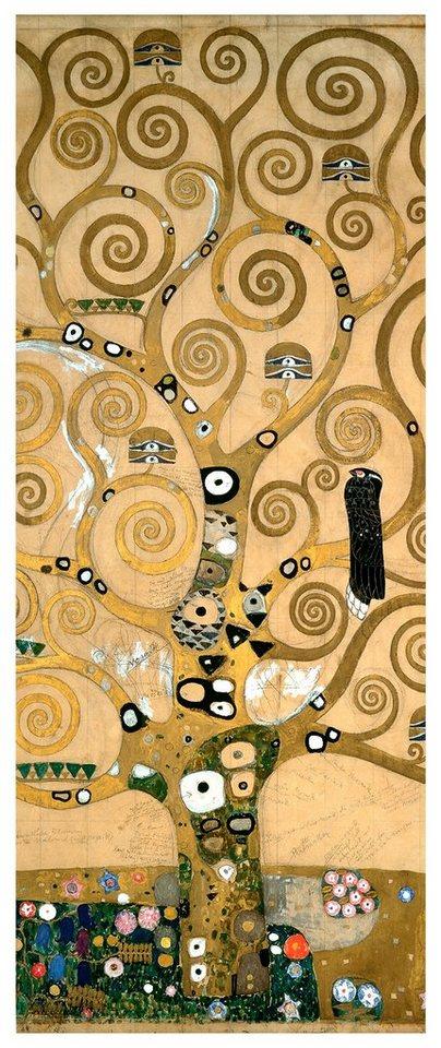 Home affaire Fototapete »Klimt - Der Lebensbaum«, 100/250 cm in mehrfarbig