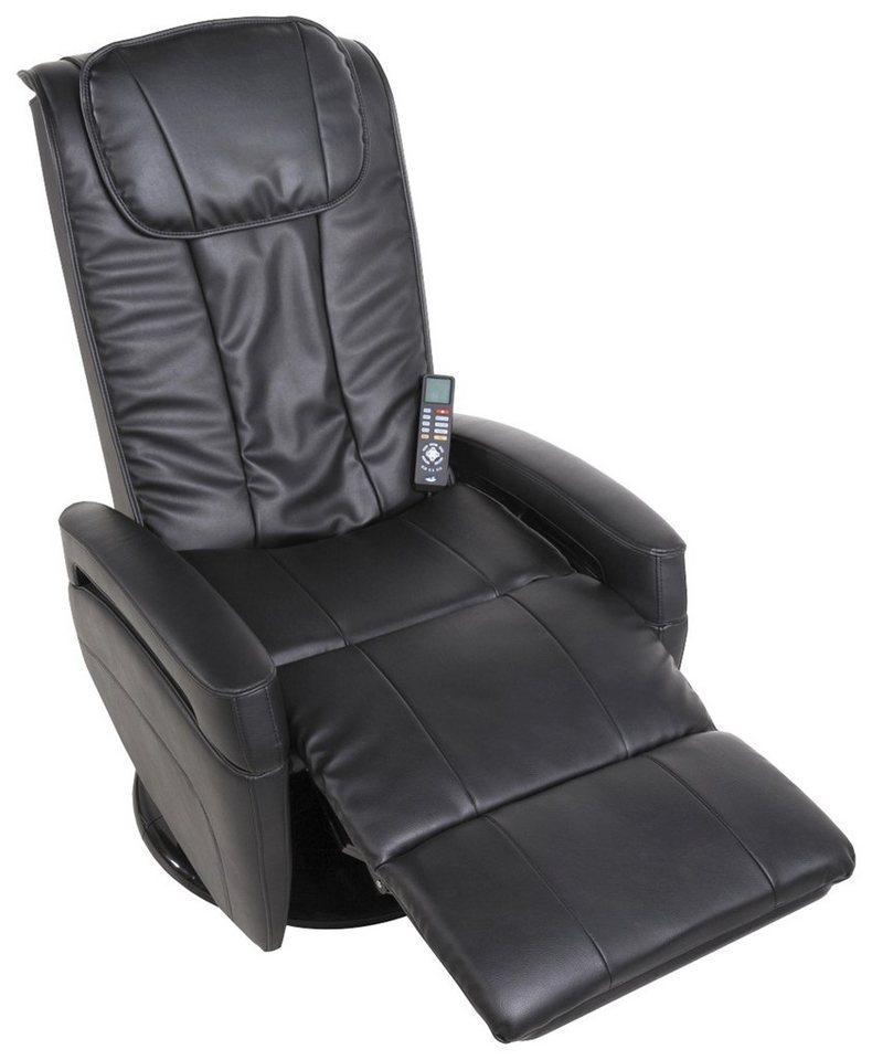 Massagesessel in schwarz