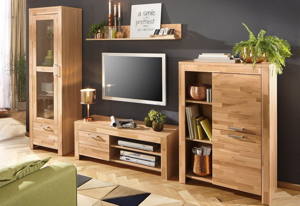 home affaire wohnwand livigno 4 tlg kaufen otto. Black Bedroom Furniture Sets. Home Design Ideas