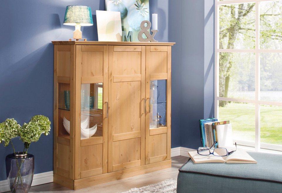 home affaire highboard santorin breite 120 cm otto. Black Bedroom Furniture Sets. Home Design Ideas