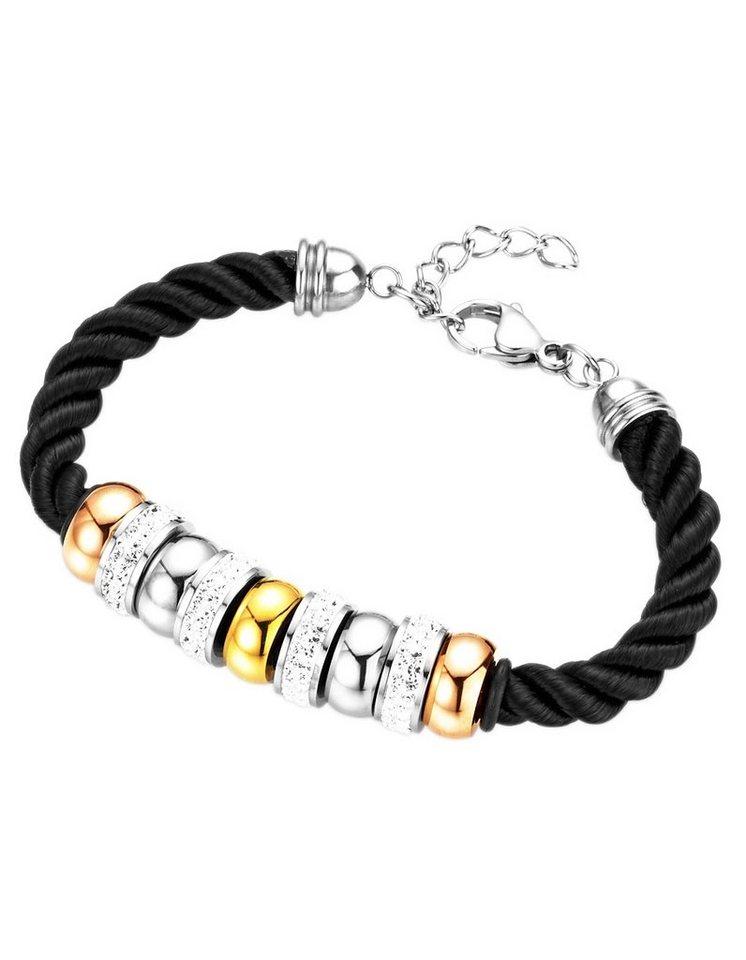 Gerry Weber Armband mit Kristallstein in Tricolor/schwarz