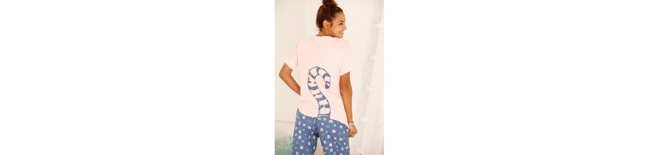 Vivance Dreams Pyjama mit Ringelschwanzprint auf der Rückseite 100% Authentisch Verkauf Online TCBu1KLnh