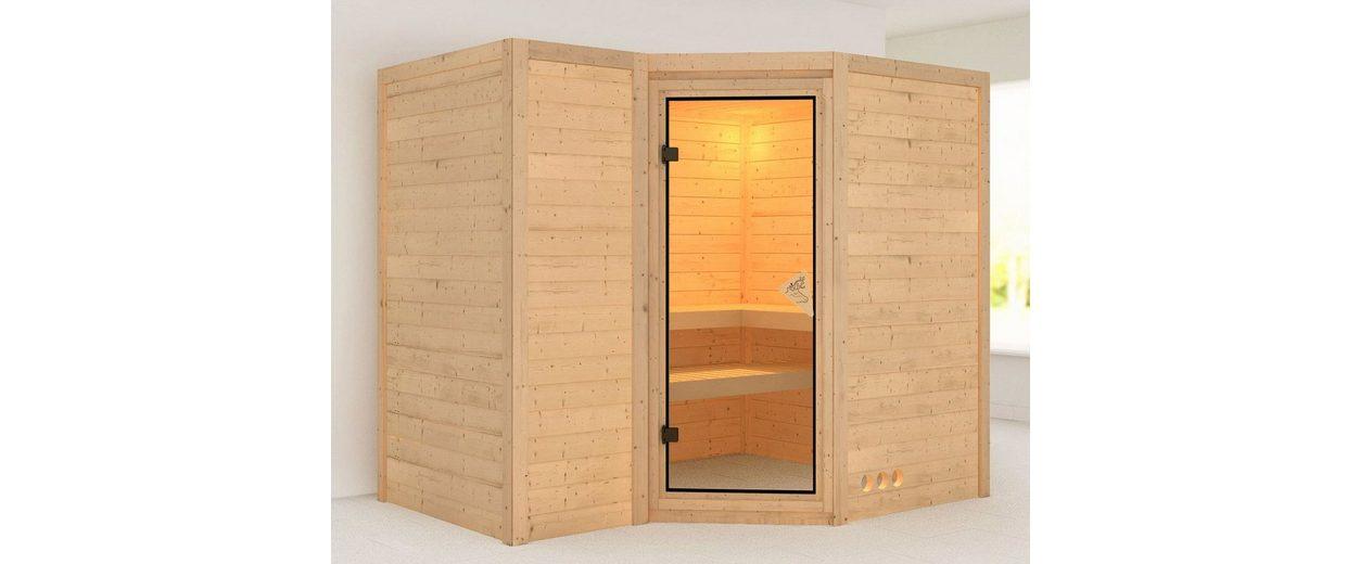 Massivholzsauna »Sahib 2«, 262/253/212 cm, ohne Ofen