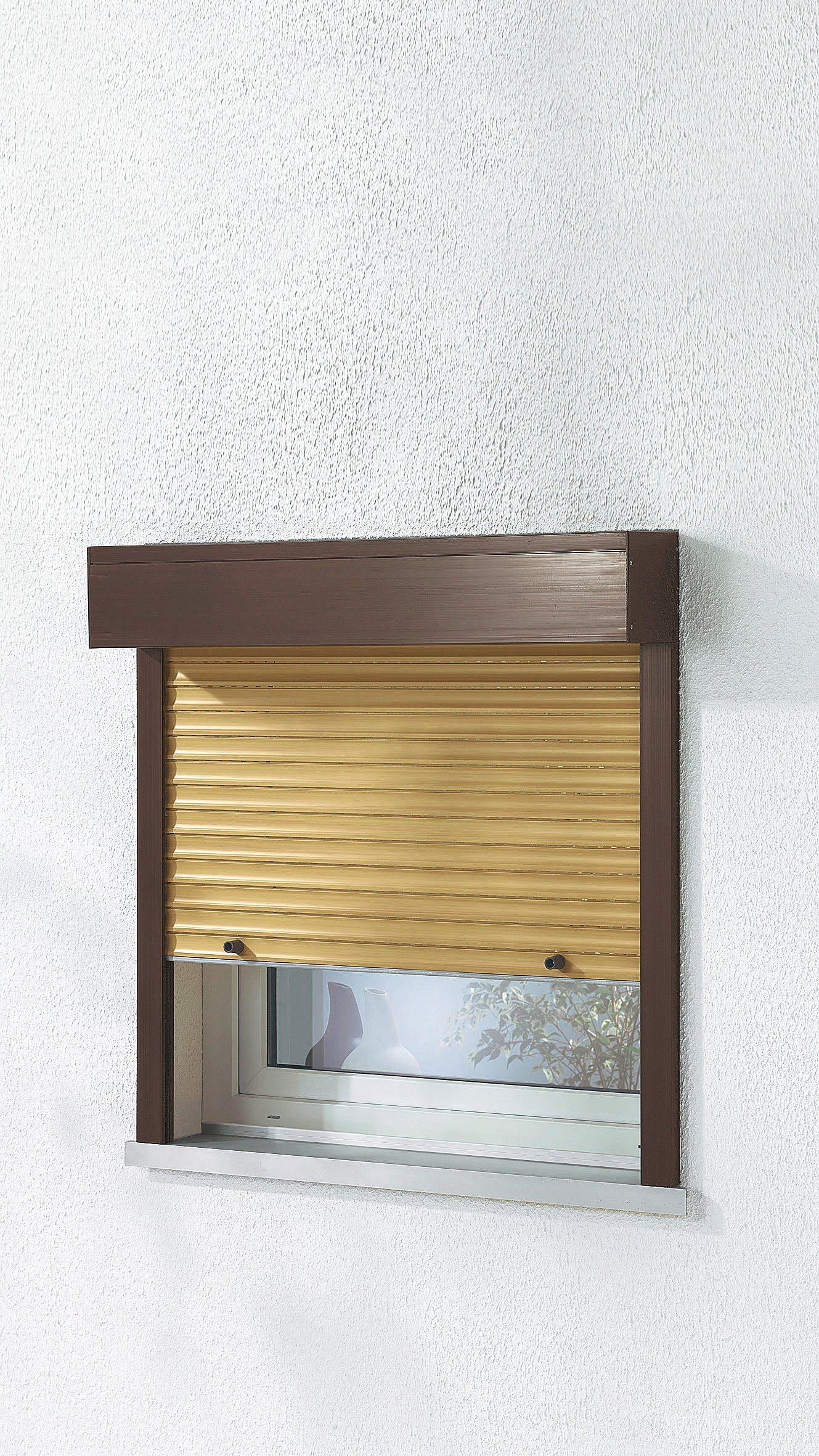 Kunststoff »Vorbau-Rollladen« Sondermaß Breite, Höhe: 160 cm, holzfarben-braun