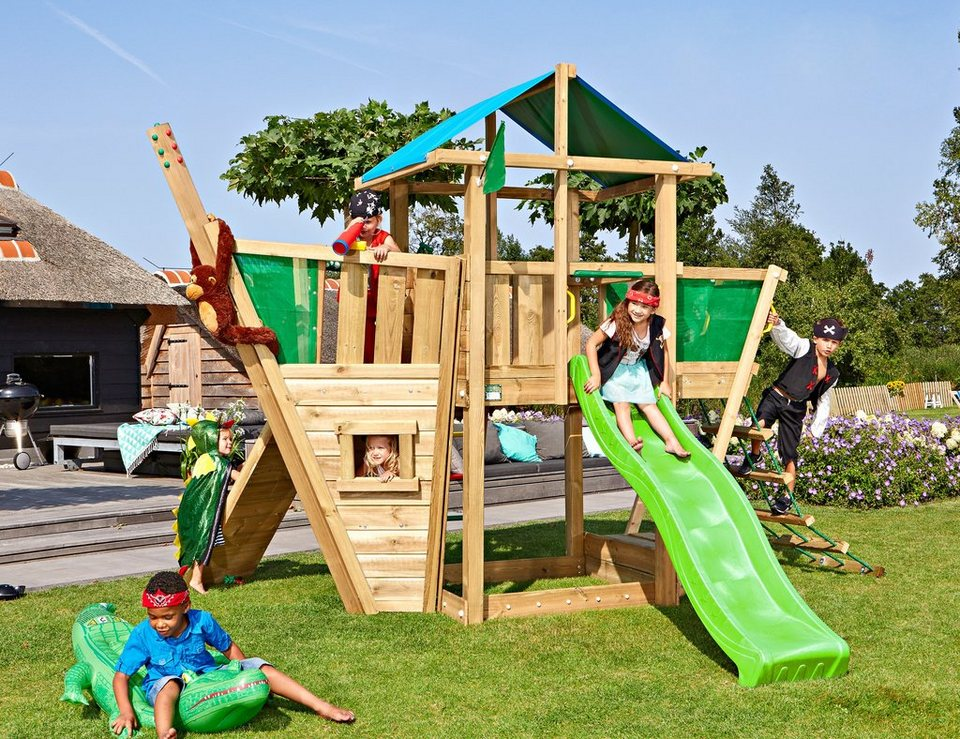 jungle gym spielturm jungle hut boat gesamtma e b t h 220 320 290 cm online kaufen otto. Black Bedroom Furniture Sets. Home Design Ideas