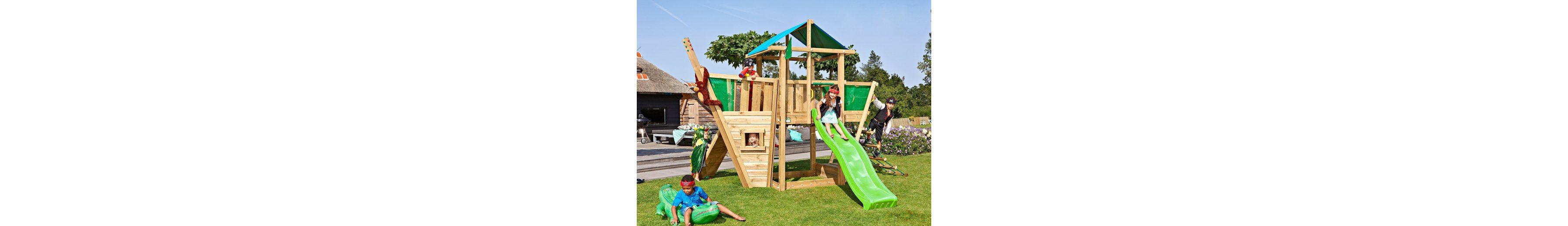 Spielturm »Jungle Hut Boat«, Gesamtmaße (B/T/H): 220/320/290 cm