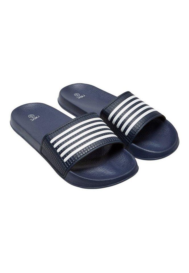 Next Pool-Sandale mit Streifendetail in Marine