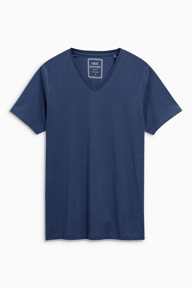 Next T-Shirt mit V-Ausschnitt in Marine