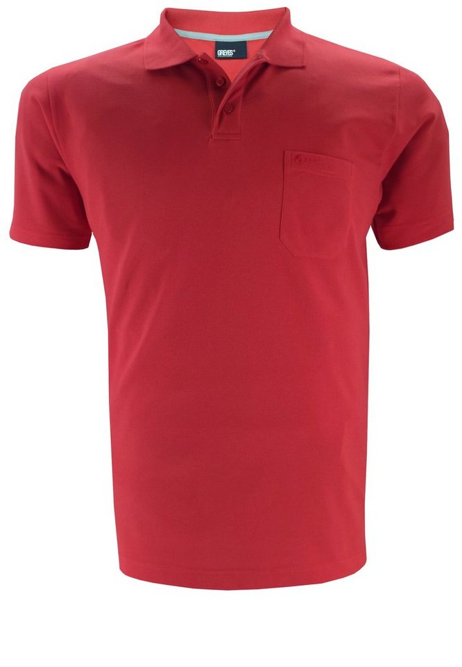 greyes Greyes Poloshirt in Rot