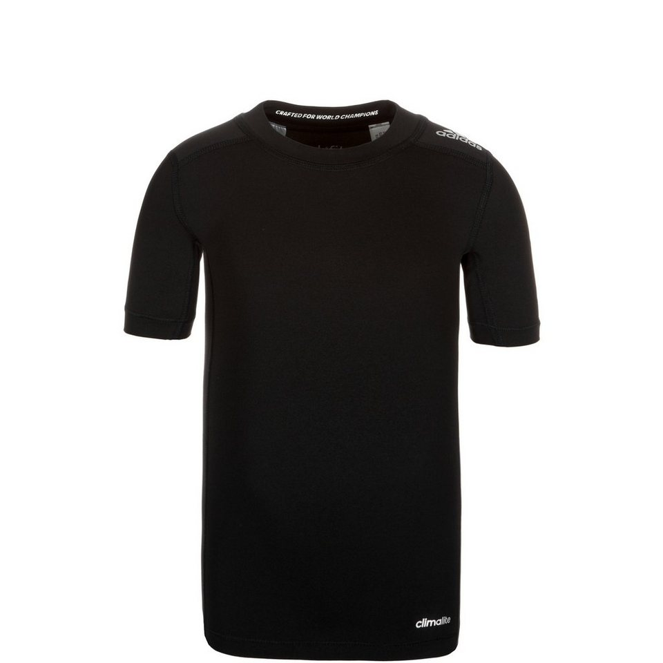 adidas Performance TechFit Base Trainingsshirt Kinder in schwarz